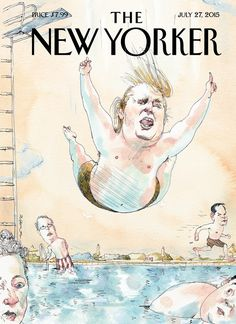 "This week's cover artist notes that Donald Trump ""never fails to provide hours of slack-jawed amazement."""