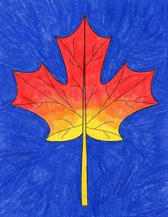 How to Draw a Maple Leaf · Art Projects for Kids