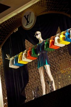 ♂ Commercial space retail store design visual merchandising window display - Louis Vuitton: Epi is Magic: