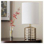 Gold Plated Geometric Ceramic rustic table lamps