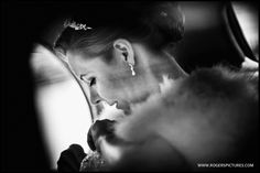 Pensive moment for Laura as she arrives at The Tithe Barn in Petersfield to marry Dan -