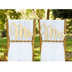 Mr. and Mrs. Gold Promises Chair Backers