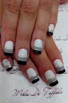 Winter Nails - 43 Sexy Winter Nail Art Design for Total Fashion Fancy Nails, Trendy Nails, Sexy Nails, Fancy Nail Art, Chic Nails, Line Nail Designs, Nail Art Stripes, Lines On Nails, Nagel Blog