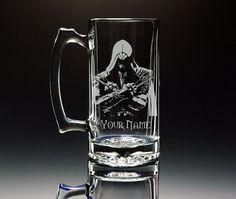 Assassin's Creed Ezio - Etched Large 26.5oz Glass Mug on Etsy, $29.11 CAD