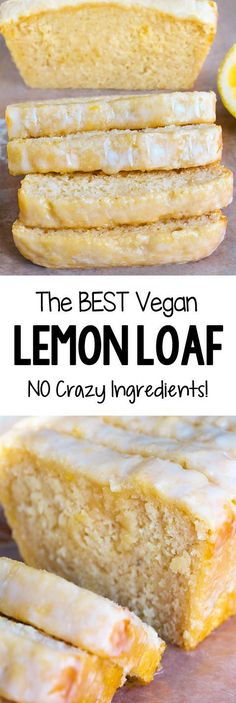 Vegan lemon bread with no crazy ingredients. Delicious for breakfast. Best food Recipes The post Vegan lemon bread without crazy ingredients super delicious for breakfast Be appeared first on Win Dessert. Lemon Recipes Sweet, Lemon Dessert Recipes, Healthy Lemon Desserts, Vegan Sweets, Lemon Recipes Breakfast, Recipes For Lemons, Lemon Recipes Vegan, Lemon Recipes Baking, Vegan Recipes For Kids
