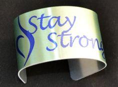 eating Disorder awareness Cuff bracelet