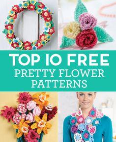 Top 10 FREE Pretty Flower Patterns