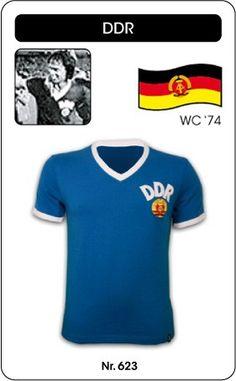 DDR (Oost-Duitsland) voetbalshirt WK 1974 Germany retro voetbal truitje football soccer vintage sport COPA
