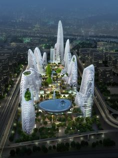 Nanjing Zendai Himalayas Center | MAD Architects | Archinect #architecture ☮k☮