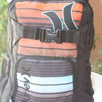 fdf16f5ae39 Hurley Orange Blue backpack computer bag school supplies Skate Straps New  Hurley Backpacks, Computer Bags