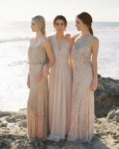 Sharing the best of bridesmaids today! How chic are these #bridesmaids seen on @elizabethannedesigns? Photography: @katiegrantphoto | Styling  Gowns: @sierraramke @thebabushkaballerina | Jewelry: @samanthawills | Hair: @kaylamarshallweddinghair | Makeup: @kristyogram #bestofaislesociety by aislesociety
