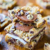 http://www.averiecooks.com/2013/08/two-ingredient-peanut-butter-cup-chocolate-chip-cookie-dough-bars.html
