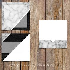 Marble and Black Glitter Instagram Template Pack