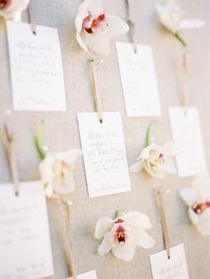#escort-cards, #seating-chart Invitations by: http://gourmetinvitations.com/ Photography: Lauren Kinsey Fine Art Wedding Photography - laurenkinsey.com Read More: http://www.stylemepretty.com/2014/09/02/elegant-beach-wedding-in-seaside-florida/