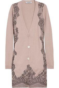Valentino lace-appliqued cardigan.