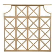 Anybody can do a couple of squares, but the Yardistry 4 ft. Cedar Decorative X Wall Trellis is certainly no square. Formed from solid cedar, the traditional. Wall Trellis, Garden Trellis, Garden Gates, Ornamental Mouldings, Privacy Panels, Lowes Home, Decorative Panels, Garden Structures, Home Depot