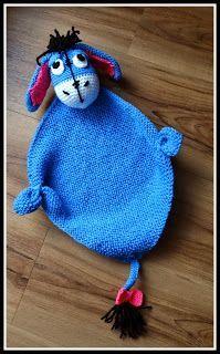 Fannysbuntewelt: Kuscheltuch Esel