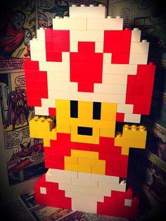 Super Mario Bros LEGO Toad by OneStopNerdShop on Etsy, $20.00