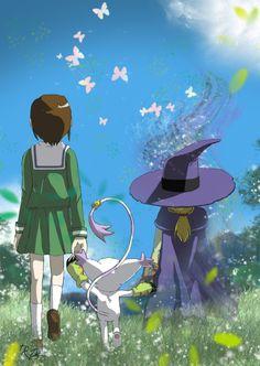 Kari, Gatomon, and Wizardmon from Digimon