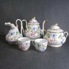 Antique Old Paris Porcelain Hand Painted Tea Set