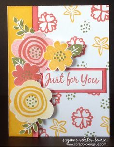 """""""Just for You"""" Card with the Close To My Heart (CTMH) November Stamp of the Month, """"It's the Little Things"""" stamp set."""
