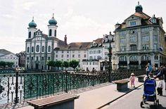 Hermosa vista en Lucerna (Suiza)