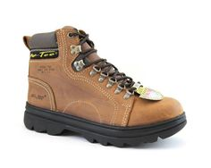 AdTec Womens Brown 6in Steel Toe Work Boot Crazy Horse Leather