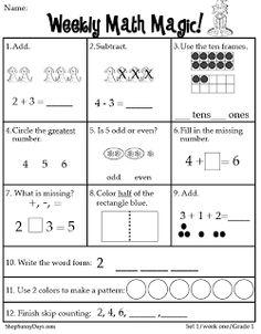Classroom Freebies: First Grade CCSS Math Magic