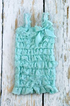 Reserved Listing for Nancy Farage Aqua Romper by PrimCoutureShop, $34.00