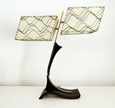 Mid Century Dual Shade Majestic Table Lamp by onemanstrashlasvegas