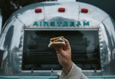 Life is s'more fun in an airstream! We are welcoming the weekend the best way we know how- with chocolate, graham crackers & a marshmallow! ✌️#glamping #airstream