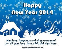 New Year 2014 Greeting Card - Happy New Year 2014 - Wishes, Quotes, Poems, SMS & Greeting Cards