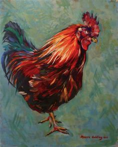 Brown rooster Inis Mor