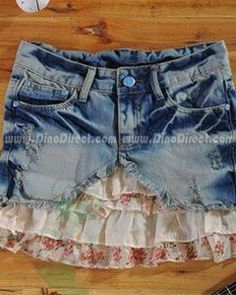 wanna figure out how to make a skirt like this with old jeans.