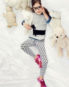J.Crew girls' dog sweater, and Selima Optique® for Crewcuts scout glasses.