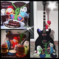 Grill party ;)  #handmade #red #hood #bunny #guitar #bear #cat #grill #butterfly #Gdańsk #Gdynia #sopot #3city #straszyn Grill Party, Red Hood, Snowman, Disney Characters, Fictional Characters, Traveling, Bunny, Guitar, Snoopy