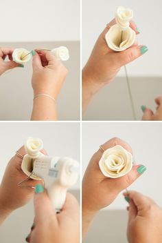 In this detailed tutorial we show you how to make the most beautiful felt lisianthus flowers and buds. perfect for a wedding bouquet or boutonniere! Handmade Flowers, Diy Flowers, Fabric Flowers, Paper Flowers, Felt Crafts Diy, Felt Diy, Fabric Crafts, Lisianthus Flowers, Felt Flowers Patterns