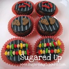 Father's Day Cupcakes // Backyard BBQ Party // Cookout Cupcakes