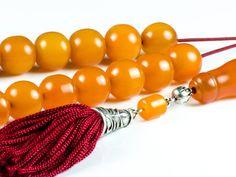 Old 1900-1920 Faturan Mastic Amber Gemstone Greek Komboloi Worry Beads | 21+1 Vintage Prayer Beads by TheBeadedGardencom on Etsy