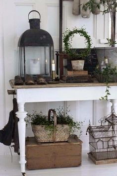 Neat way to store random possessions: use them as decor