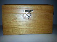 NEW WOOD JEWELRY BOX W/PLUSH VELVETY LINER  - TRINKETS, ACCESSORY BOX