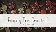 The Blue Brick holiday DIY series! Step-by-step photo tutorial on creating polymer clay gingerbread man tree ornaments.