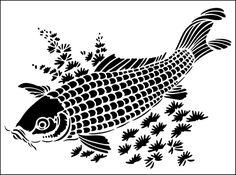 Carp stencil from The Stencil Library online catalogue. Buy stencils online. Stencil code JA129.