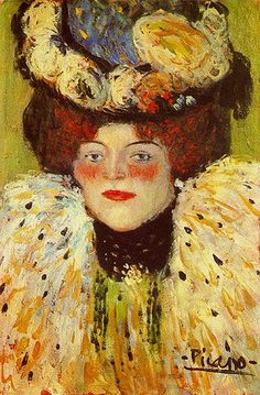 Would never have guessed this as Picasso - would have said Toulouse or Manet.  Just shows how Picasso could master any style, any era...mega talented & genius artist. Picasso, Pablo - Portrait of a woman - 1901
