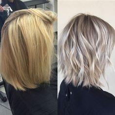 New Hair Color Blonde Cool Grey Ideas Grey Blonde Hair, Blonde Color, Cool Toned Blonde Hair, Beige Hair, Pinterest Hair, Silver Hair, Silver Blonde, Cool Hair Color, Hair Highlights