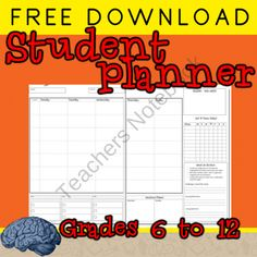 Get Your Students Organized This Year from Selma Dawani Educational Therapy on TeachersNotebook.com (5 pages)  - Free Student Planner for Grades 6 to 12 -- Project Planning, Goal Tracking, coming soon :)