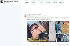 Retweet su Twitter di Samanta De Grenet 26/09/2014