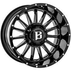 "4-Ballistic 964 Machete 20x10 8x170 -24mm Black/Milled Wheels Rims 20"" Inch · $835.96 Suv Rims, 20 Inch Rims, Jeep Wrangler Accessories, Chrome Wheels, Toyota Land Cruiser, Windows, Black, Black People, Ramen"