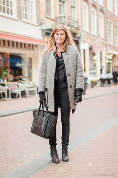 Anne Mae in Amsterdam wearing a beautiful Isabel Marant coat. #fashion #streetstyle