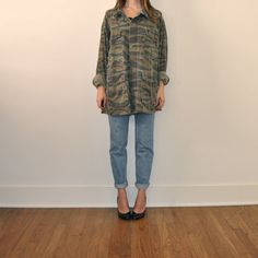 Vintage Army Jacket  //  Camouflage Military Jacket  by JACKNBOOTS, $58.00